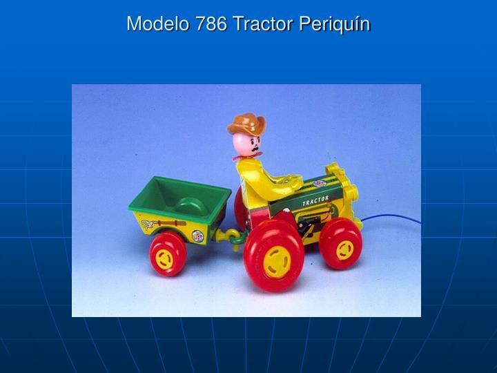 Modelo 786 Tractor Periquín