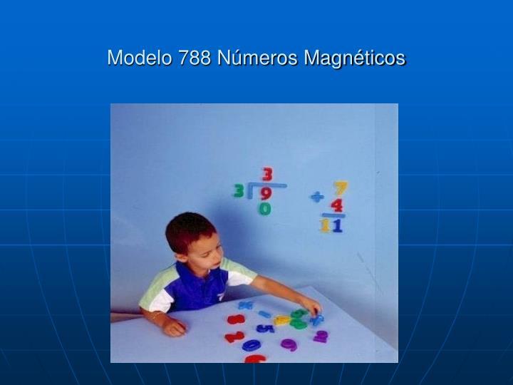 Modelo 788 Números Magnéticos