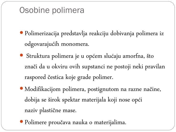 Osobine polimera