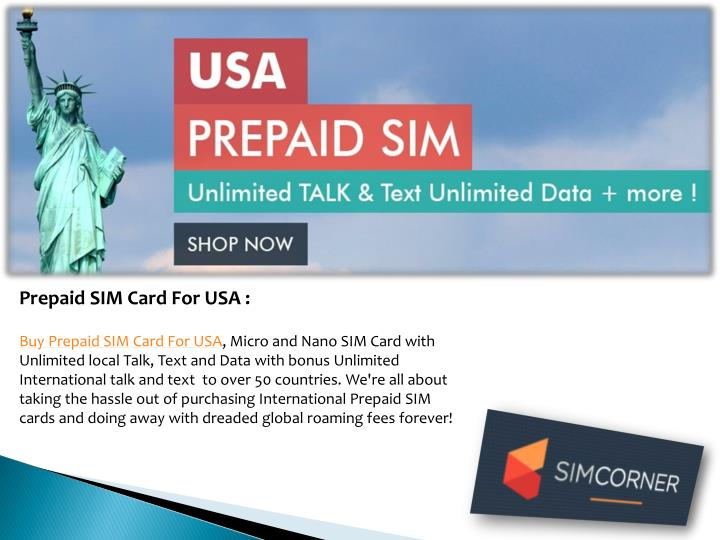 buy prepaid sim card for usa micro and nano sim card with unlimited local talk text and data with bonus unlimited international talk and text to over 50 - Prepaid Card Usa