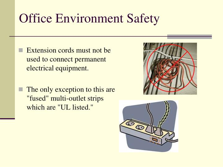 Extension cords must not be used to connect permanent electrical equipment.