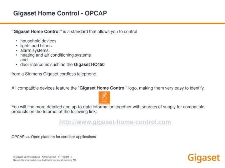 Gigaset Home Control - OPCAP