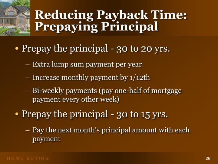 Reducing Payback Time: