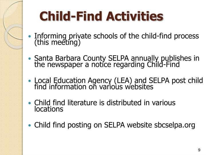Child-Find Activities