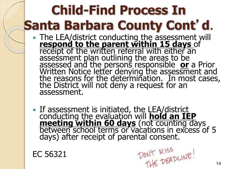 Child-Find Process In