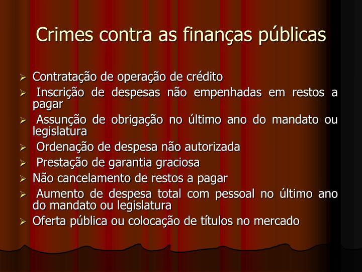 Crimes contra as finanças públicas