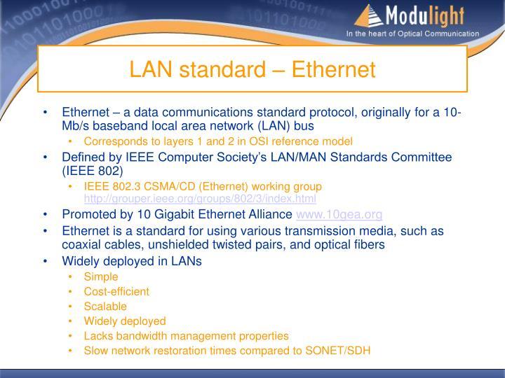LAN standard – Ethernet