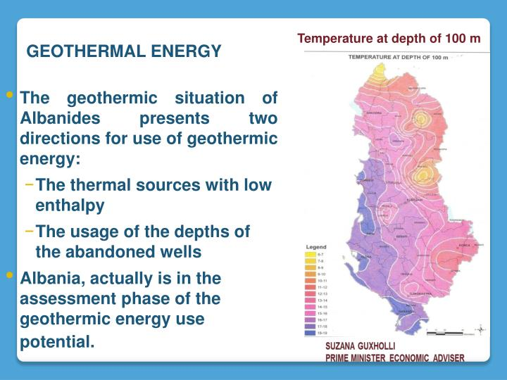 The geothermic situation of