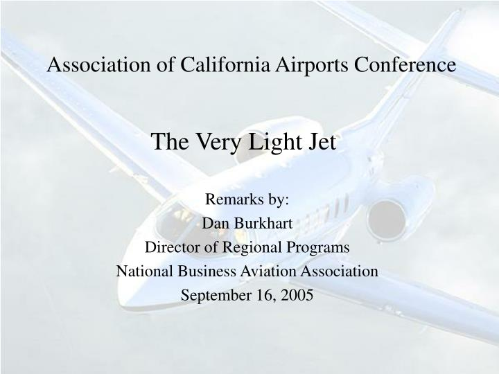 association of california airports conference n.