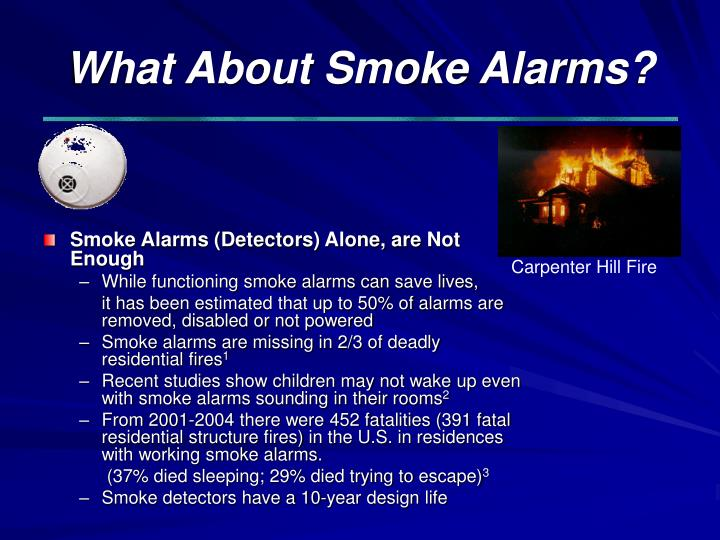 What About Smoke Alarms?