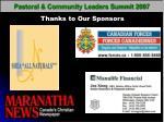 pastoral community leaders summit 2007