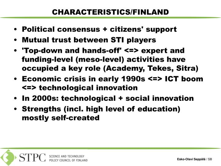Characteristics finland