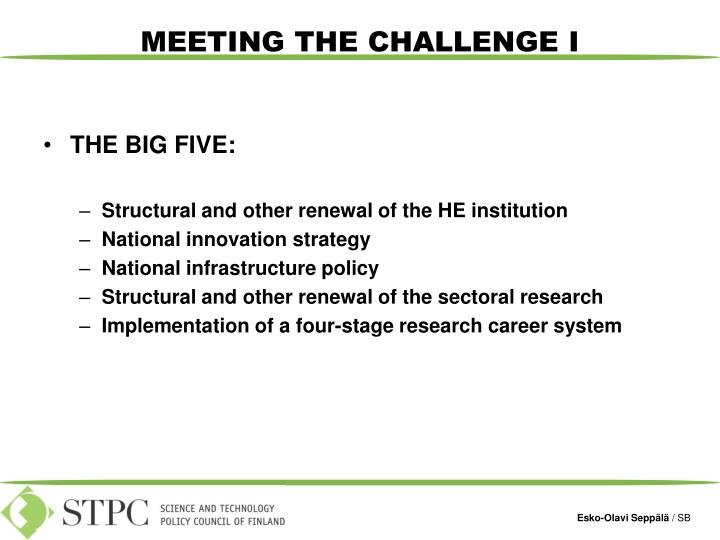 THE BIG FIVE:
