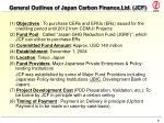general outlines of japan carbon finance ltd jcf