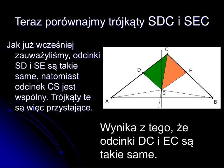 Teraz porównajmy trójkąty