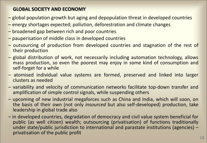 GLOBAL SOCIETY AND ECONOMY