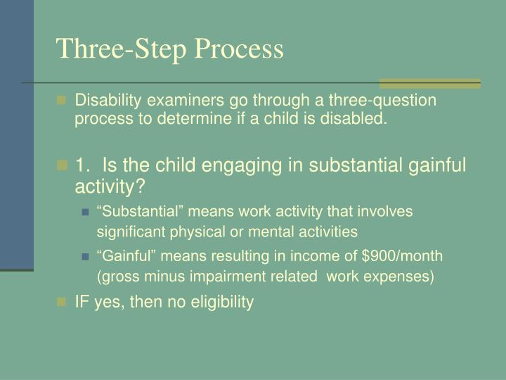 Three-Step Process