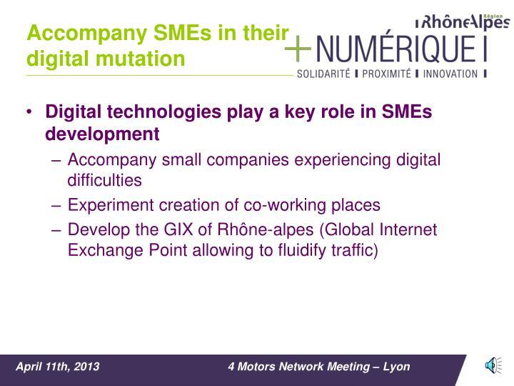 Accompany SMEs in their digital mutation