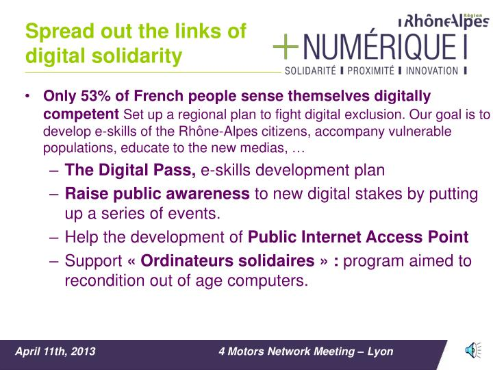 Spread out the links of digital solidarity