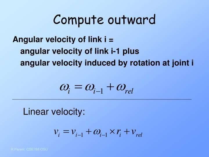 Compute outward
