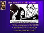 the bible is god s word john 1 1