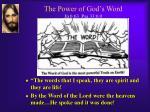 the power of god s word jn 6 63 psa 33 6 9