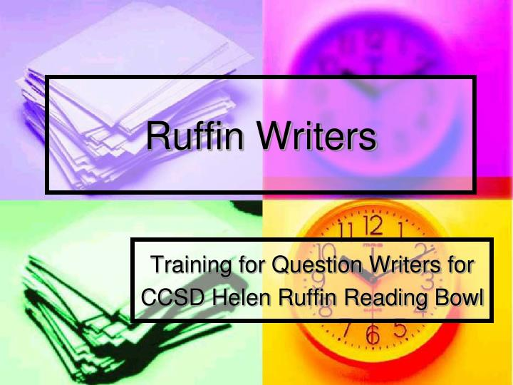 ruffin writers n.