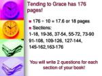 tending to grace has 176 pages