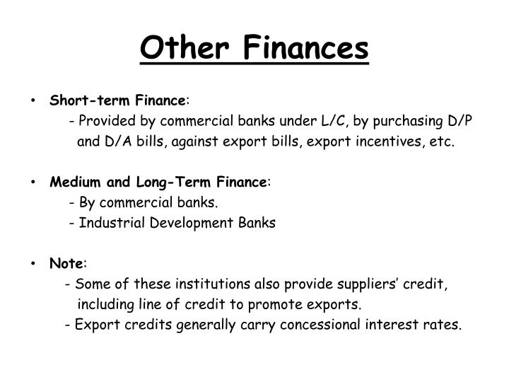 Other Finances