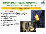 eksperymenty podziemnego zgazowania w gla w warunkach rzeczywistych1