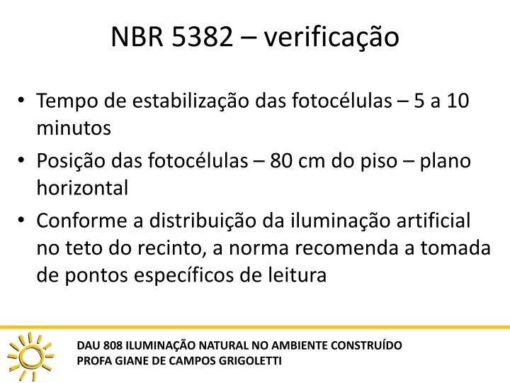 NBR 5382 – verificação
