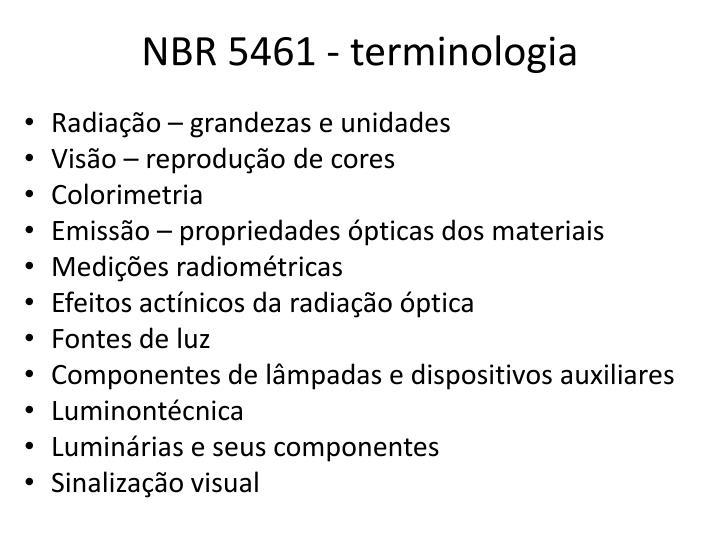 Nbr 5461 terminologia