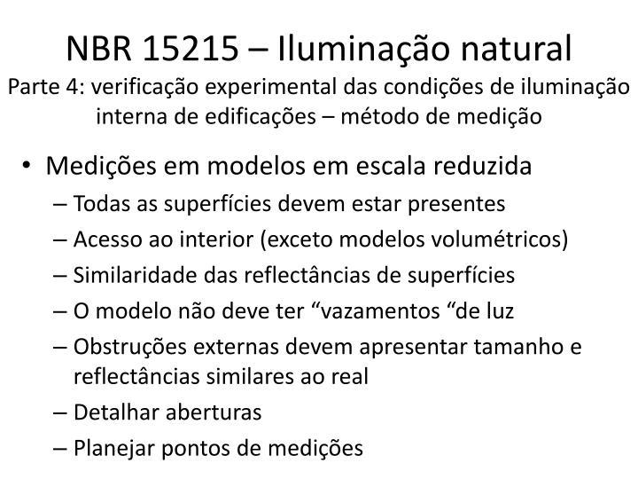 NBR 15215 – Iluminação natural