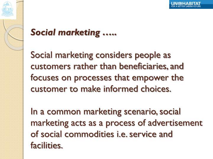 Social marketing …..