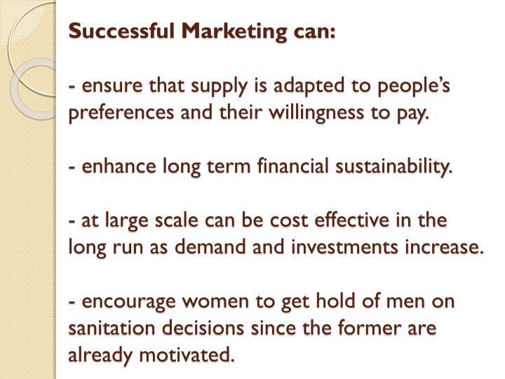 Successful Marketing can: