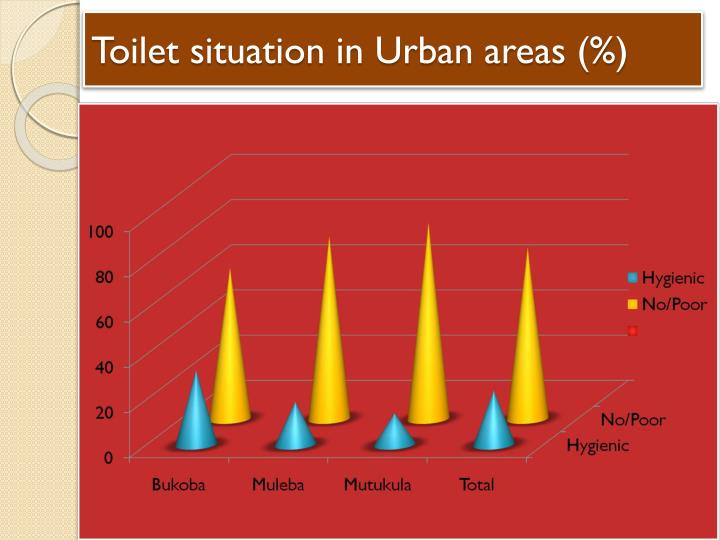 Toilet situation in Urban areas (%)