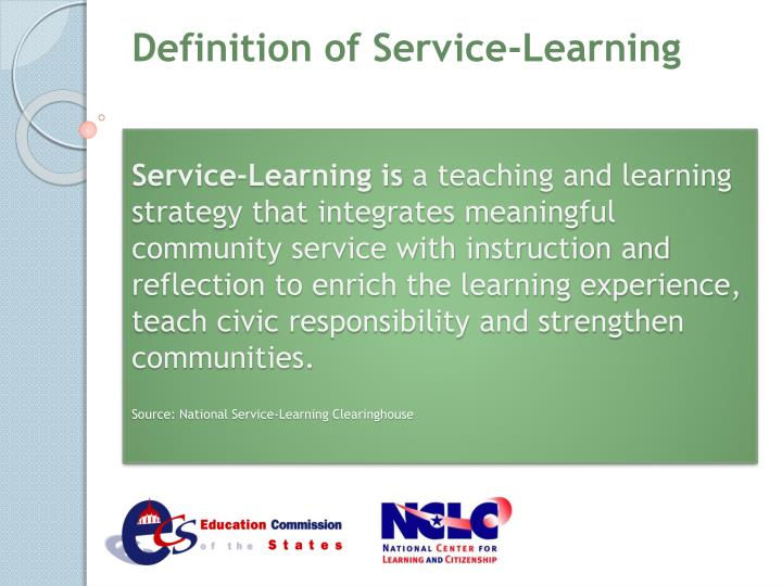 Definition of Service-Learning