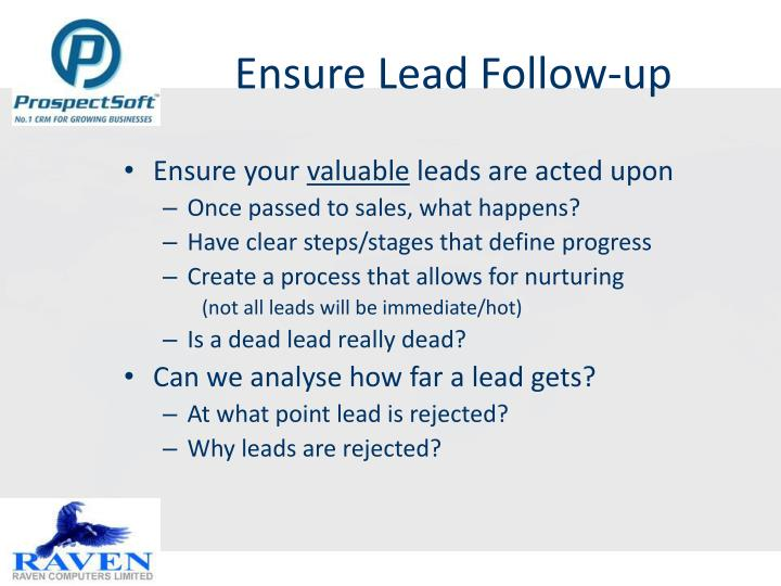 Ensure Lead Follow-up