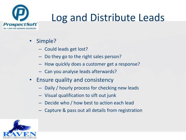 Log and Distribute Leads