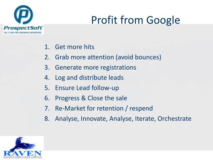 Profit from Google