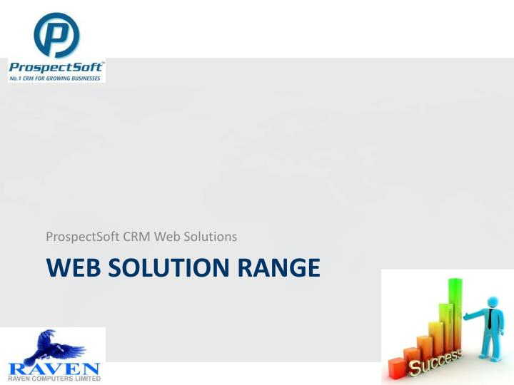 ProspectSoft CRM Web Solutions
