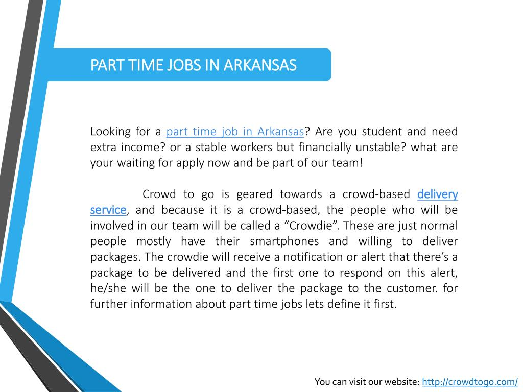 PPT - PART TIME JOBS IN ARKANSAS PowerPoint Presentation