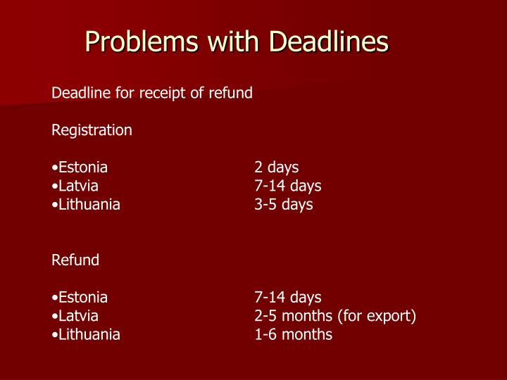 Problems with Deadlines