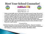 meet your school counselor