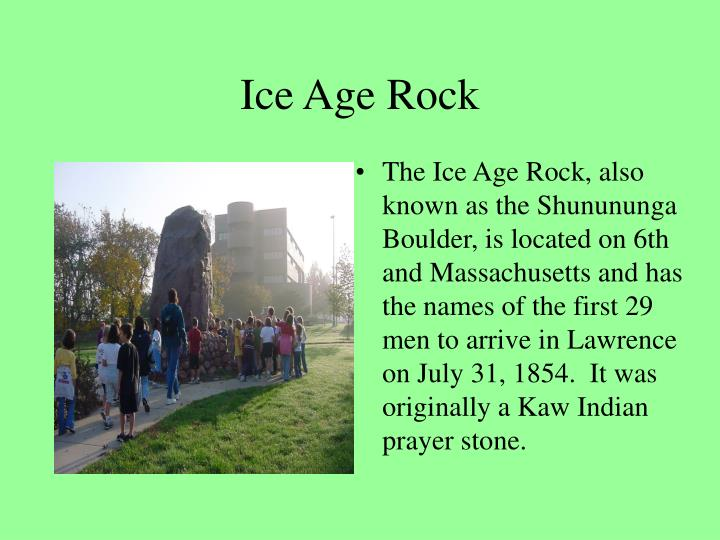 Ice age rock
