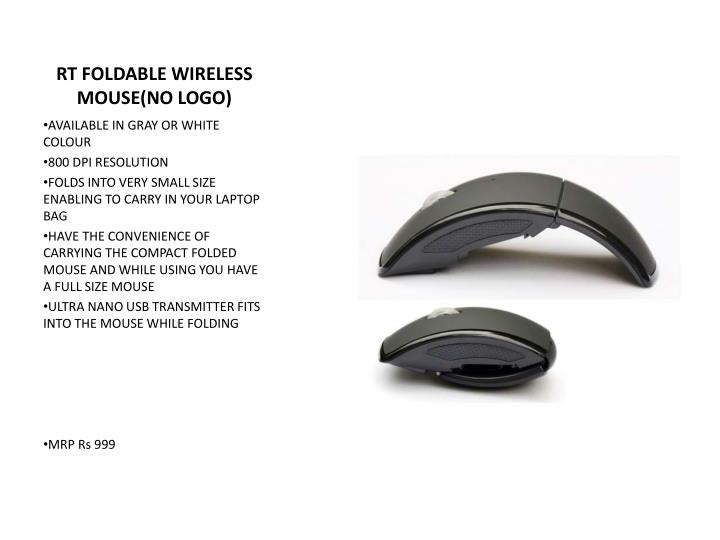 RT FOLDABLE WIRELESS MOUSE(NO LOGO)