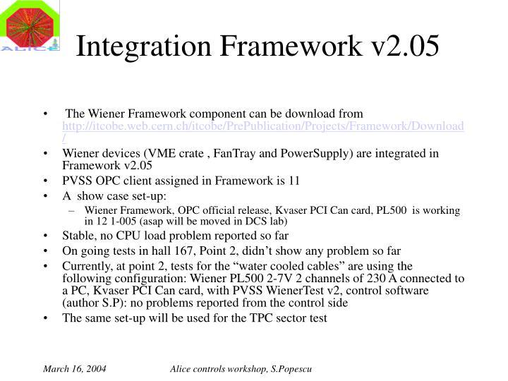 Integration Framework v2.05