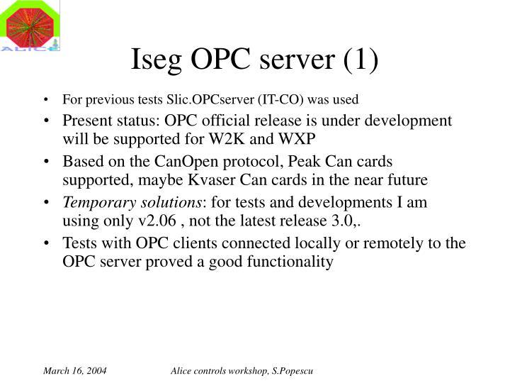 Iseg OPC server (1)
