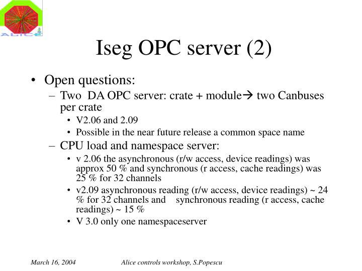 Iseg OPC server (2)