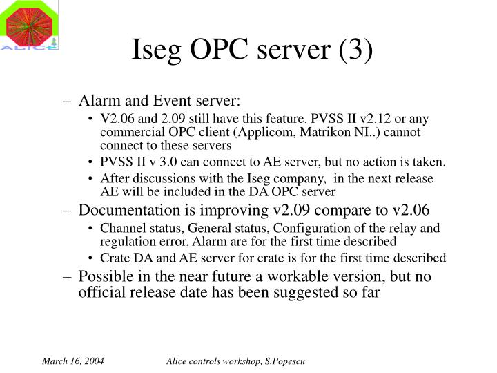 Iseg OPC server (3)